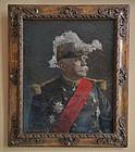Antique Painting Portrait French Marshal Joseph Jacques