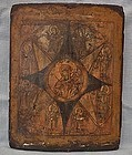 Antique 18th c Russian Orthodox icon the Virgin of the Burning Bush