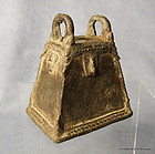 Antique African Benin Bronze Bell from Nigeria 17th-19th c