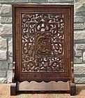 SOLD Antique Chinese Qing Dynasty Carved Huanghuali Wood Table Screen