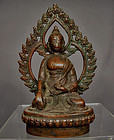 Antique Nepalese Bronze Figure of Buddha 15th - 18th century Nepal
