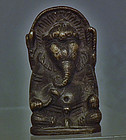 Antique 18th 19th c Himalayan Tibetan Bronze Figure of Ganapati Ganesh
