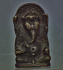 Antique 18th 19th c Himalayan Tibetan Bronze Figure of Ganapati Ganesh