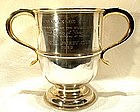 Rare Antique Jockey Horse Challenge Cup Trophy