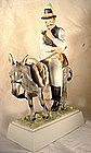 Rare Herend figure of Hungarian man & donkey