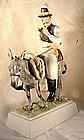 Rare Herend figure of Hungarian man & donkey