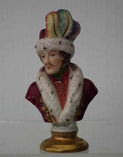 Napoleonic Porcelain Bust of French Napoleon Marshal Joachim Murat