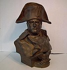 Antique 19th c Large Bronze Sculpture Bust of Napoleon by R. Colombo