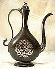 Antique 19th century Indian Bidri Ewer