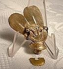 Pre-Columbian Tairona Gold Lip Plug