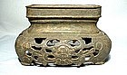 ANTIQUE CHINESE QING DYNASTY BRASS STAND