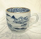 18TH CENTURY CHINESE EXPORT BLUE AND WHITE CUP