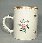 c. 1740 CHINESE EXPORT FAMILLE ROSE MUG, Ching Dynasty