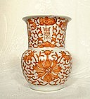QING DYNASTY  ANTIQUE PORCELAIN VASE