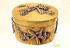 ANTIQUE JAPANESE BRASS SNUFF BOX 19TH CENTURY