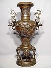 Antique Japanese Bronze Censer, Meiji Period