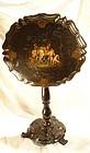 Antique Victorian Paper-Mache Tilt-Top Table, 1850