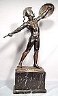 Zwierzejewski,Polish bronze sculpture Greek nude male