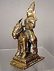 Brass Figure of the Lord Shiva on Horse, India 18th Cen