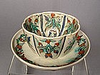 Ottoman Kutahya Cup and Saucer, Turkey
