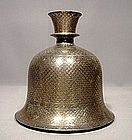 Antique Mughal Bidriware Huqqa, India, 18th century