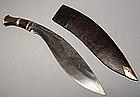 ANTIQUE NEPALESE COMBAT KNIFE KUKRI, 19TH CENTURY