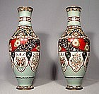 Antique Japanese Cloisonné Enamel Vases, 19th century