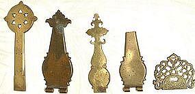 Antique Brass Cabinet Hardware � Hinges, 18th Century