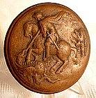 Antique English Snuff Box St. George on Horse, 18th cen