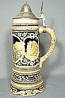 Antique German Music Box Stein from Heidelberg, 19th C