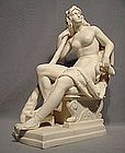 Antique Neo Classical Porcelain Figure Omphale Queen