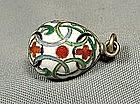 Antique Fabergé  Russian Silver Enamel Easter Egg