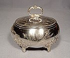 Antique Imperial Russian Silver Jewish Etrog Box
