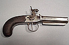 Antique Gun Percussion Pistol by John Evans, 19th Cen