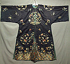 Antique Chinese Kesi Robe Embroidered Silk Qing Dynasty
