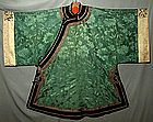 Antique Chinese Robe Silk  Qing Dynasty Textile