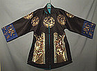 Antique Chinese Robe Embroidered  Silk Qing Dynasty