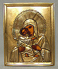 Antique Russian Icon Mother of God of Vladimir