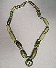 Pre-Columbian Maya Mayan Green Stone Necklace