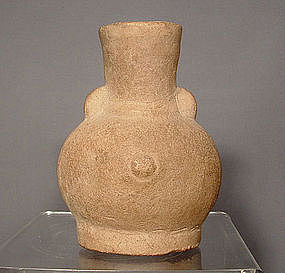 Ancient Pre-Columbian Veracruz Ceramic Vessel