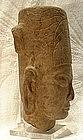 Antique Khmer Sandstone Head of Harihara Pre-Angkor