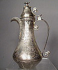 Antique Turkish Ottoman Silver Islamic Coffee Pot