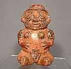 Antique Pre-Columbian  Ceramic Nicoya Pottery  Figure