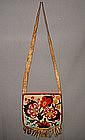 Antique North American Indian Beaded hide shoulder bag