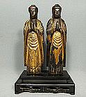 Antique Japanese Buddhists Figures