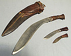 Antique Sword Kukri Knife Gurkhas, Nepal, 19th century