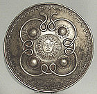 Antique Indo-Persian steel Shield Dhal Separ, 18th cent