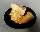 Antique Napoleonic Pipe Head of Napoleon, 19th Century