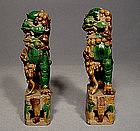 Antique Lions Fu Dogs Chinese Ceramic Kangxi Period