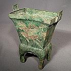 Antique Chinese Bronze Chou Dynasty Censer
